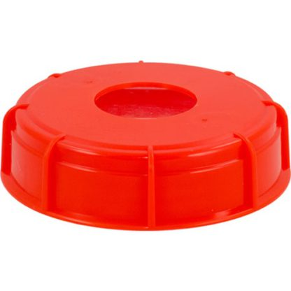 Carboy lid with hole - Side View