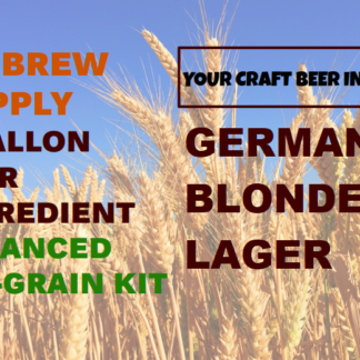 MBS German Blonde Lager All Grain Beer Kit