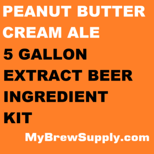 MBS Peanut Butter Cream Ale Homebrew 5 Gallon Beer Extract Ingredient Kit